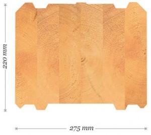 Kuva 2.12.  Kuusamon lamellihirsiprofiili, 275 mm. [18]