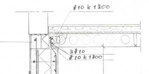 (b) Leikkauskuva välipohjan rakenteesta. Ontelolaatta 200 mm ja eristeenä Finnfoam FL-300 eriste [15]. Eristepaksuus 30 mm.