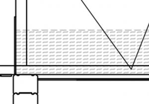 Kuva 2.10.  Leikkauskuva yläpohjan rakenteesta. Eristeenä Ekovillan puhallettava puukuitueriste [16]. Eristepaksuus 500 mm.